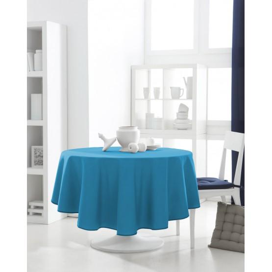 nappe ronde uni turquoise 1m60 anti tache infroissable. Black Bedroom Furniture Sets. Home Design Ideas