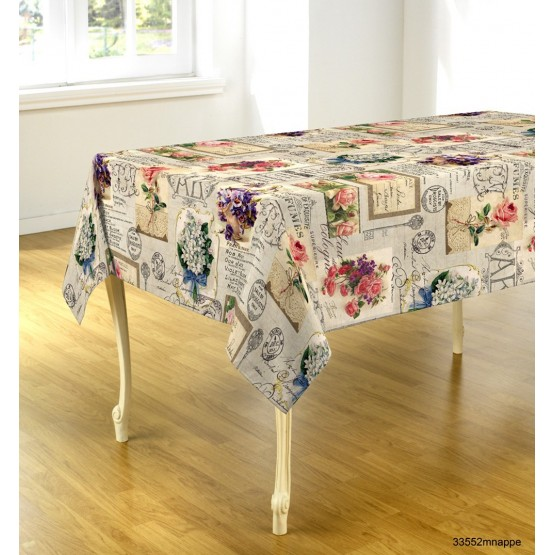 nappe ovale simple nappe table ovale with nappe ovale. Black Bedroom Furniture Sets. Home Design Ideas