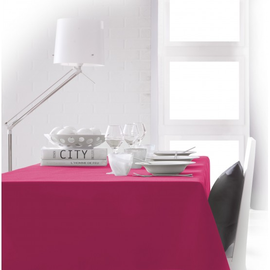 nappe unie fushia 2m50 x 1m50 anti tache et sans repassage. Black Bedroom Furniture Sets. Home Design Ideas