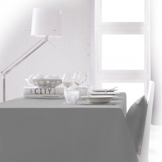 nappe unie gris clair zinc 2mx 1m40 anti tache sans repassage. Black Bedroom Furniture Sets. Home Design Ideas