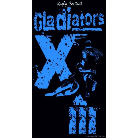 Serviette De Bain Rugby.Serviette De Plage Rugby Xiii Gladiators 95 Cm X 175 Cm