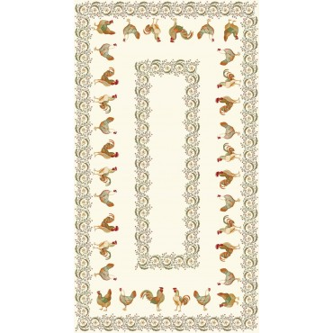 Nappe Chanteclair  2m50/1m50 - Tapis de table