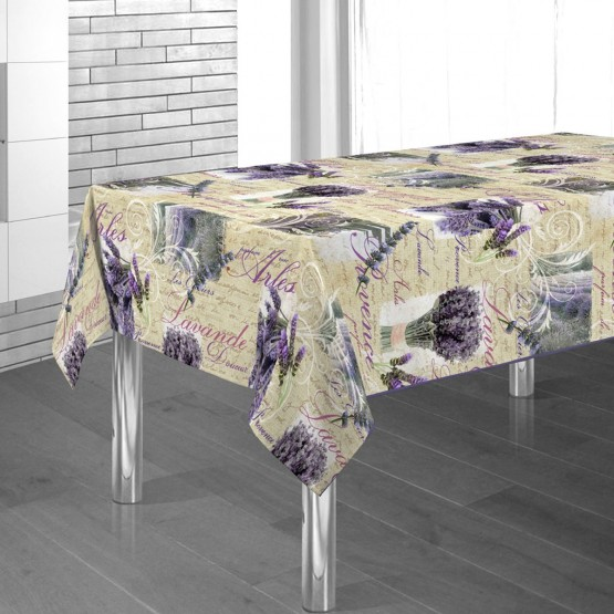 nappe arles lavande ref 74168 m 3m x 1m48 anti tache sans repassage. Black Bedroom Furniture Sets. Home Design Ideas
