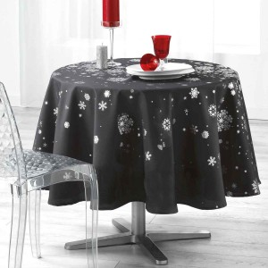 nappe ronde 1m80 constellation gris anthracite argent anti tache infroissable. Black Bedroom Furniture Sets. Home Design Ideas