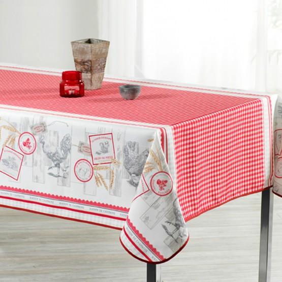 nappe poule et vichy rouge ref 950 3m x 1m50 anti tache infroissable. Black Bedroom Furniture Sets. Home Design Ideas
