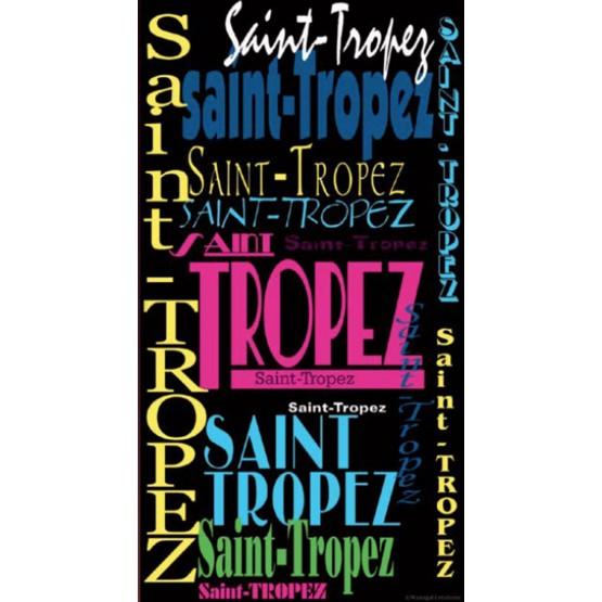 Serviette de plage Saint Tropez 100 cm x 180 cm