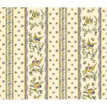 Nappe Faïence de Moustiers bleu coton 3m/1m60