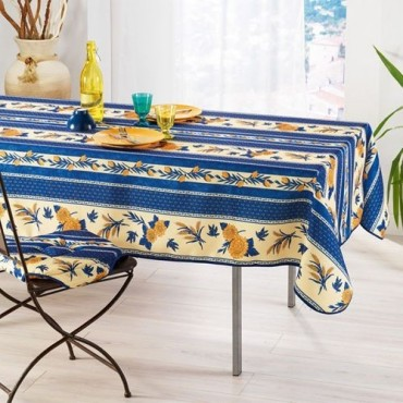 Nappe abeille bleu rectangle 2m40/1m50