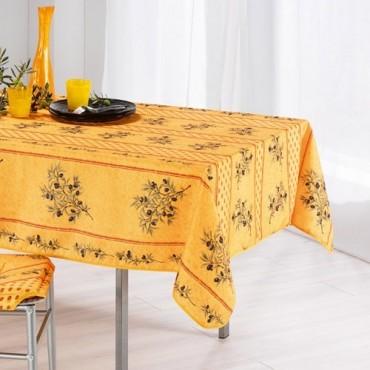 Nappe carrée 1m50 mimosa olivou jaune