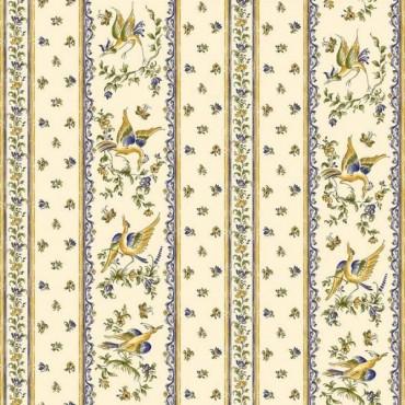 Nappe moustier bleu coton enduit 1m50/1m20