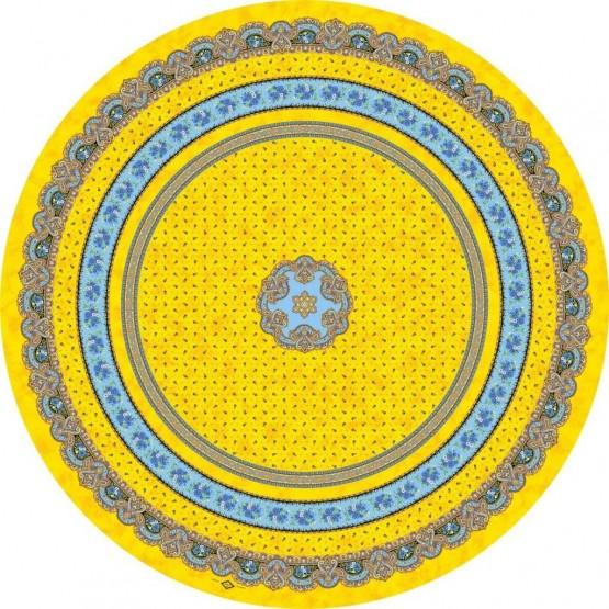 Nappe ronde création Marat d'Avignon jaune