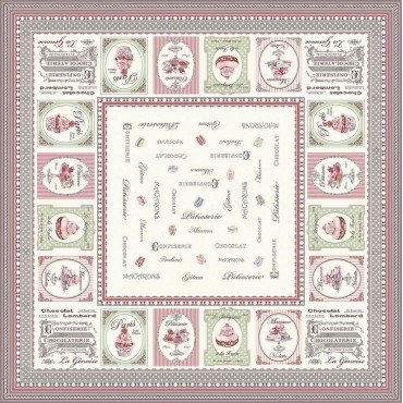 Nappe Plaid carré nougatine 1m50/1m50