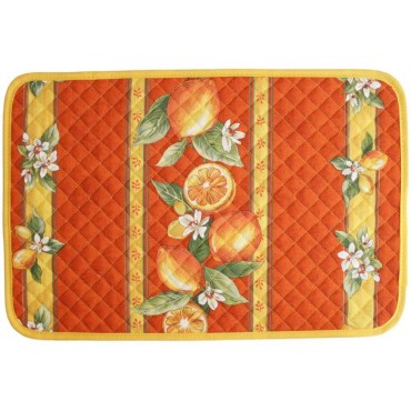 Set de table citron orange