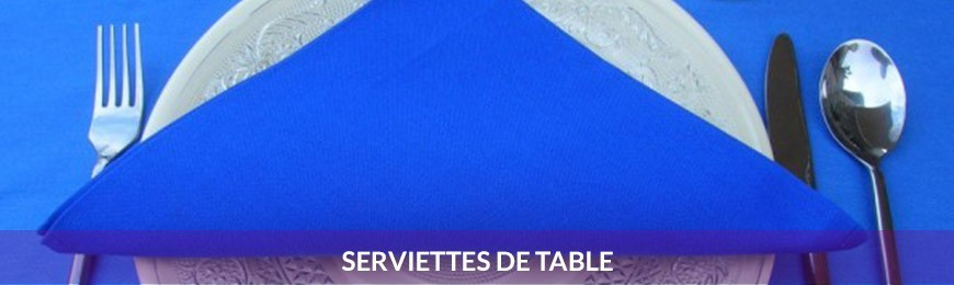 Serviettes de table et ronds de serviette
