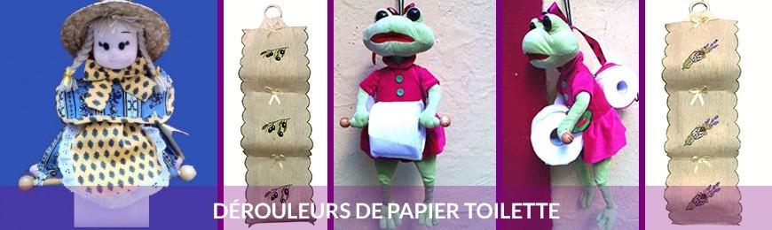 Dérouleur papier toilette et porte papier toilette
